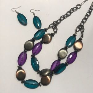 Necklace set with matching earrings